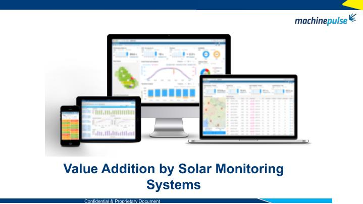Value Addition by Solar Monitoring