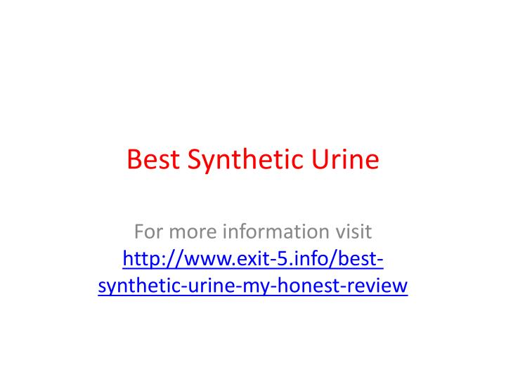 Best synthetic urine