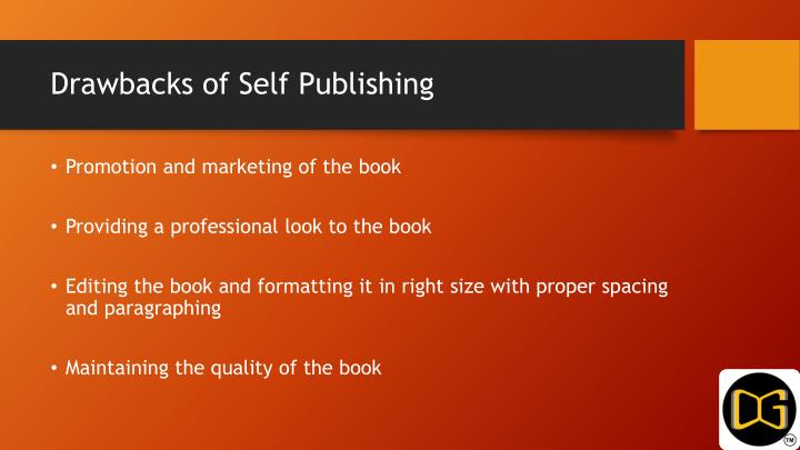Drawbacks of Self Publishing