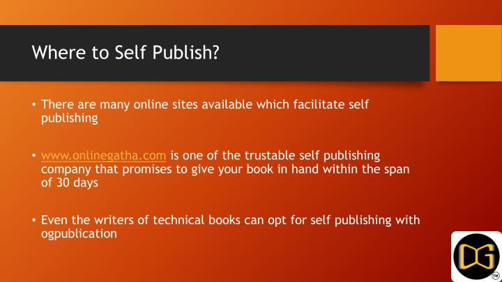 Where to Self Publish?
