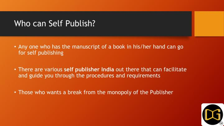 Who can Self Publish?