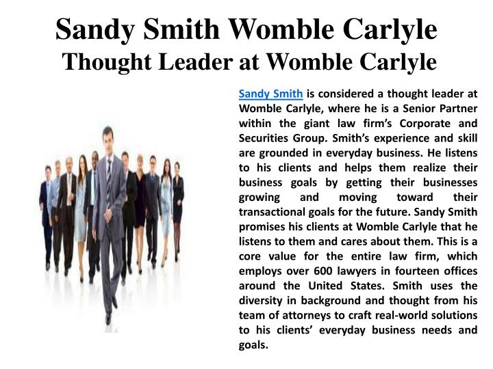 Sandy Smith Womble Carlyle
