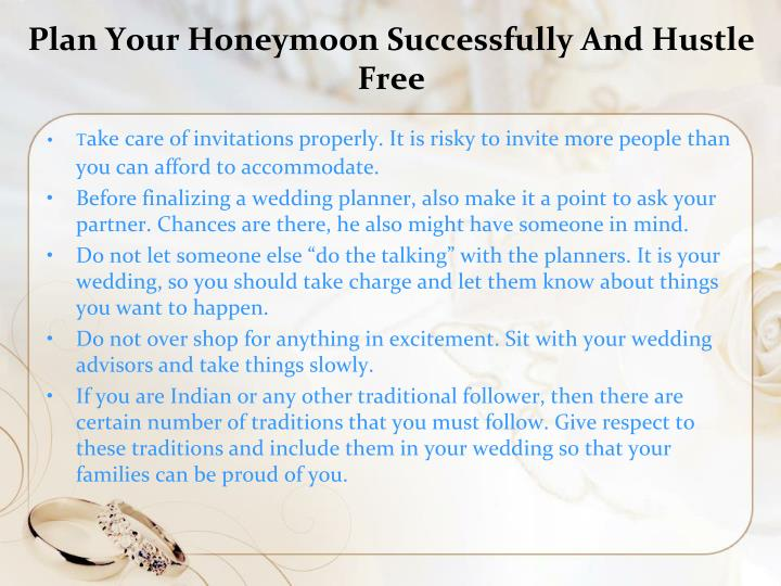 Plan Your Honeymoon Successfully And Hustle Free