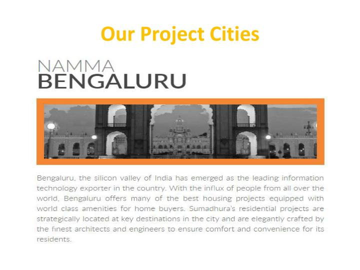 Our project cities
