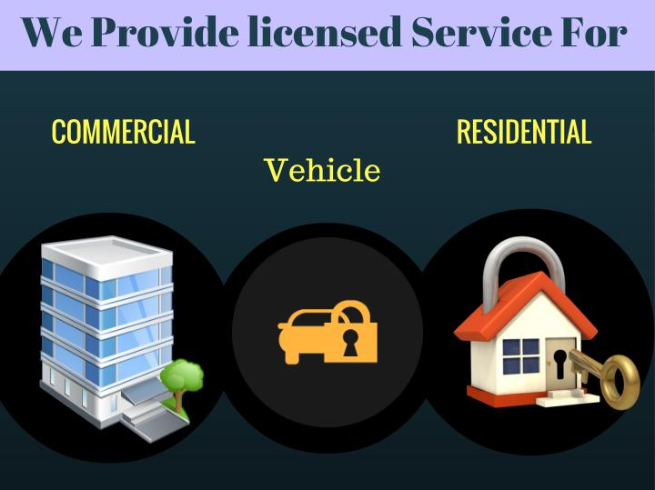 We Provide licensed Service For
