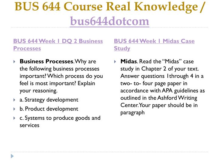 Bus 644 course real knowledge bus644dotcom2