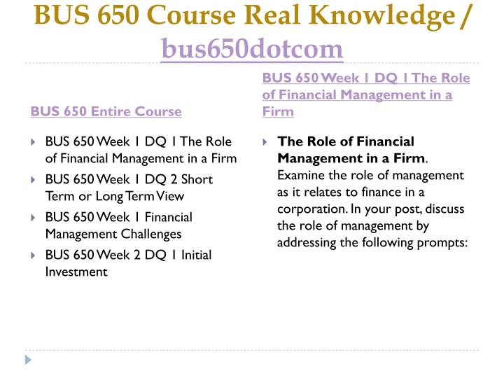 Bus 650 course real knowledge bus6 5 0dotcom