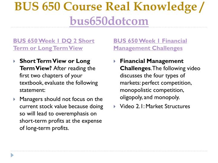 Bus 650 course real knowledge bus6 5 0dotcom1