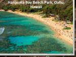 hanauma bay beach park oahu hawaii