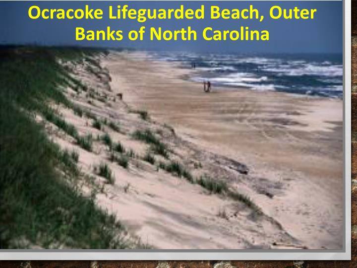 Ocracoke Lifeguarded Beach, Outer Banks of North Carolina