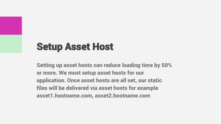 Setup Asset Host