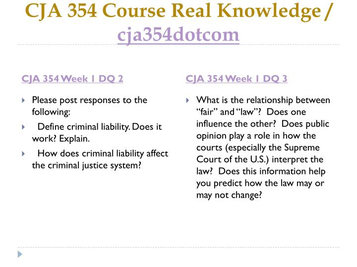Cja 354 course real knowledge cja354dotcom2