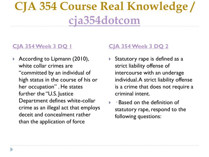CJA 354 Course Real Knowledge /