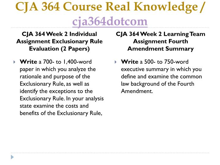 CJA 364 Course Real Knowledge /