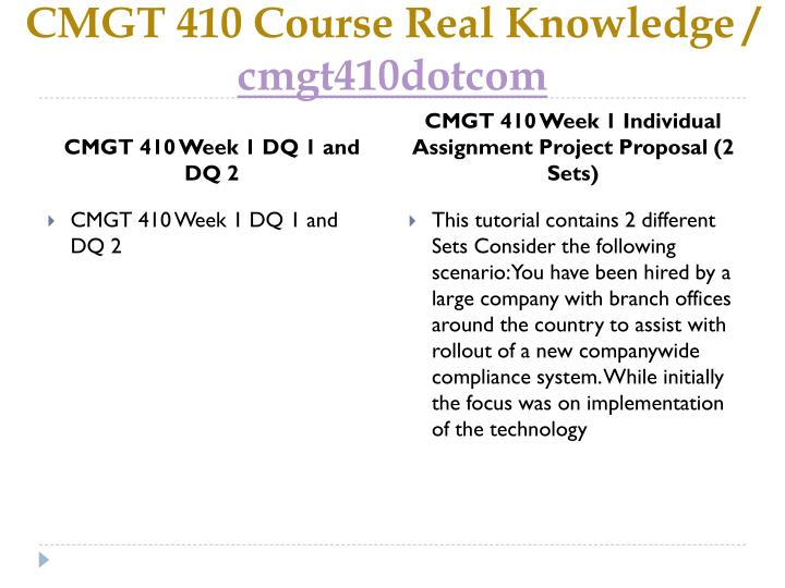 Cmgt 410 course real knowledge cmgt410dotcom2