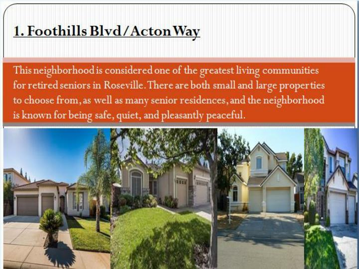 Top 4 neighborhoods in roseville for retired seniors