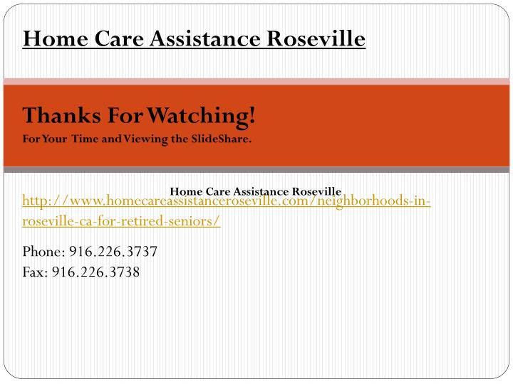 Home Care Assistance Roseville