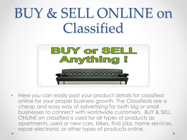 BUY & SELL ONLINE on