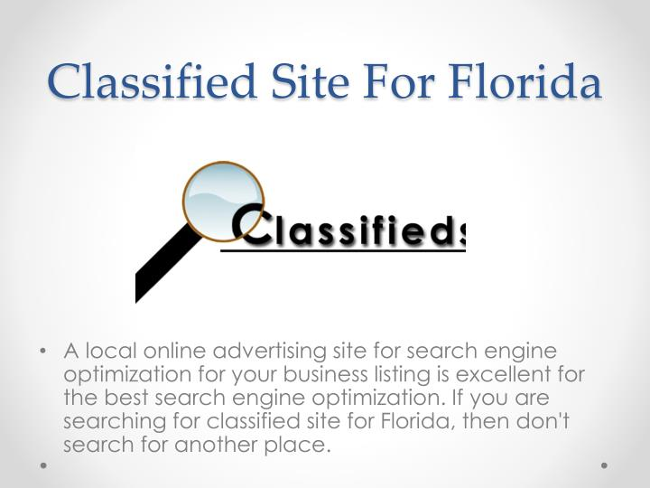 Classified Site For