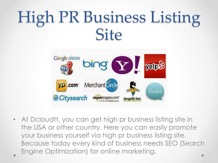 High PR Business Listing