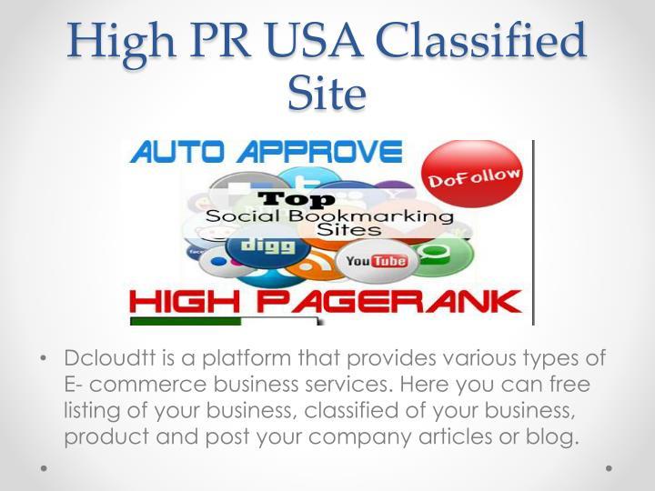 High PR USA Classified