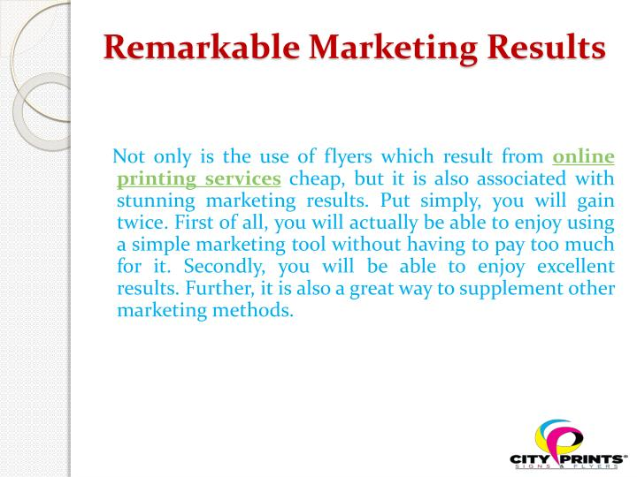 Remarkable Marketing Results