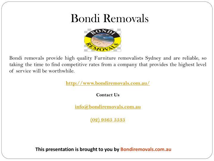 Bondi Removals