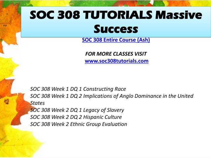 SOC 308 TUTORIALS Massive Success