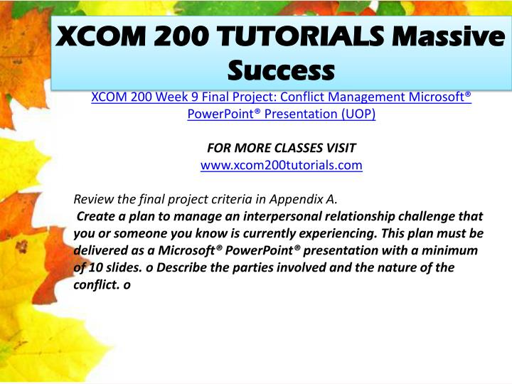 XCOM 200 TUTORIALS Massive Success