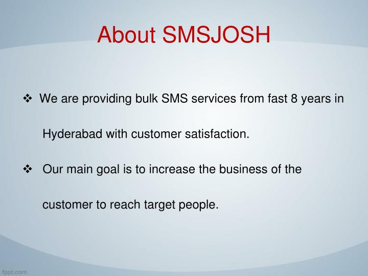 About smsjosh