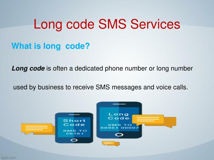 Long code sms services