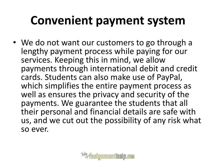 Convenient payment system