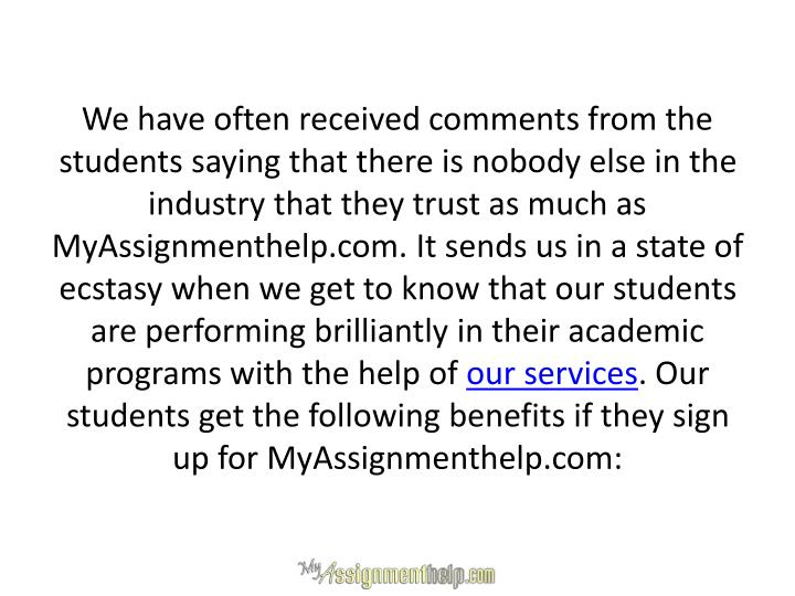 We have often received comments from the students saying that there is nobody else in the industry t...