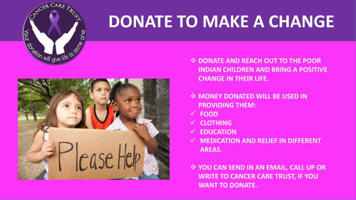 DONATE TO MAKE A CHANGE