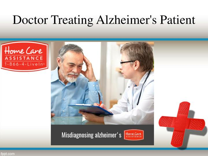 Doctor treating alzheimer s patient