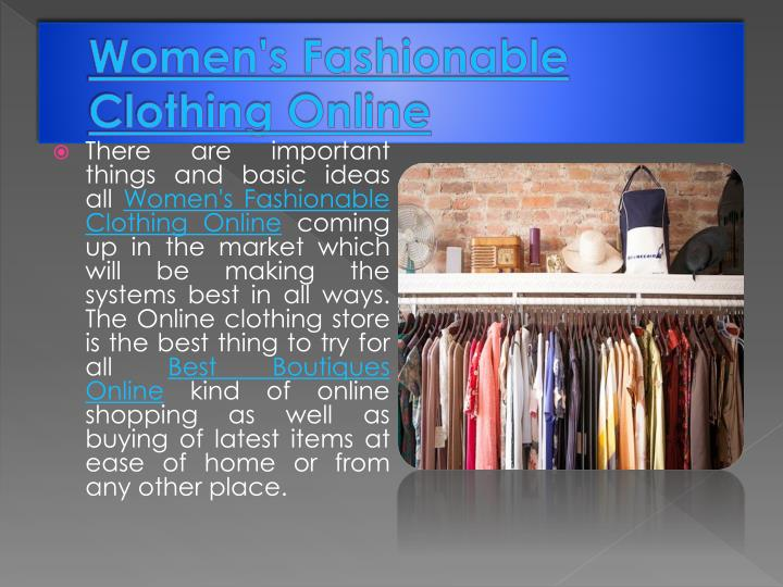 Women's Fashionable Clothing Online