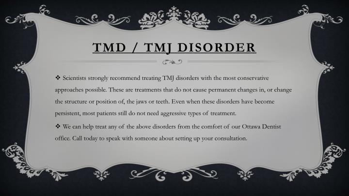 TMD / TMJ DISORDER