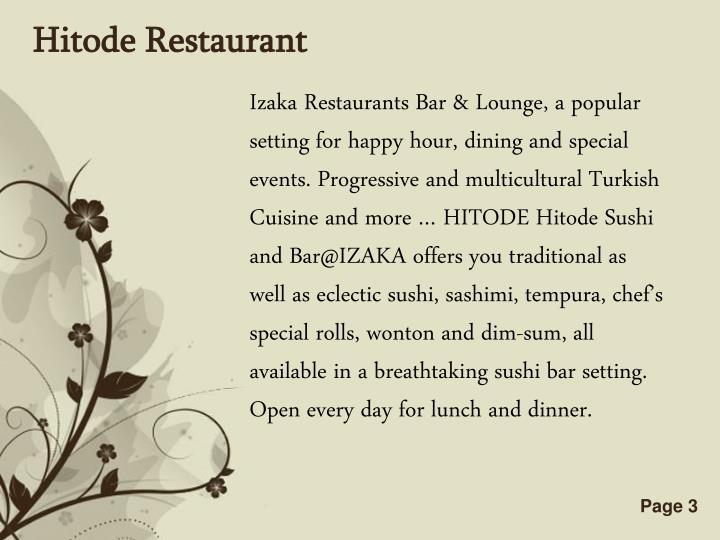Hitode Restaurant