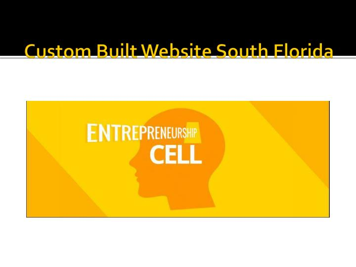 Custom Built Website South Florida