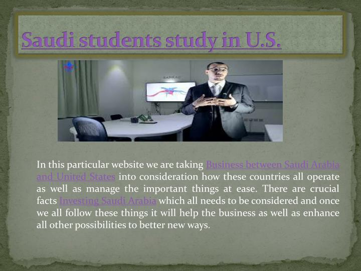 Saudi students study in U.S.