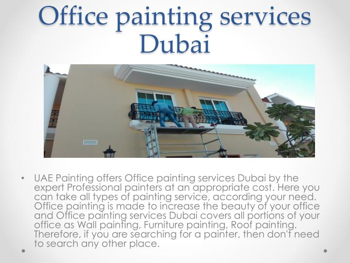 Office painting services Dubai