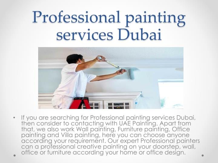 Professional painting services Dubai