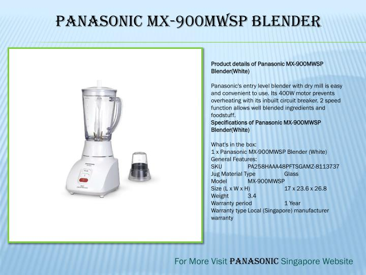 Panasonic MX-900MWSP Blender