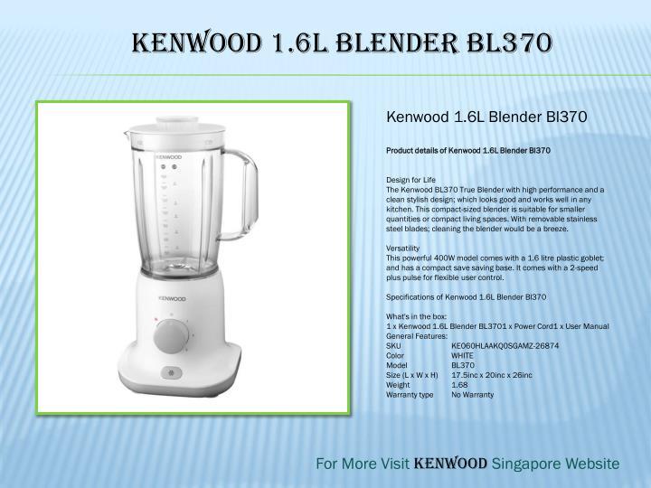 Kenwood 1.6L Blender Bl370