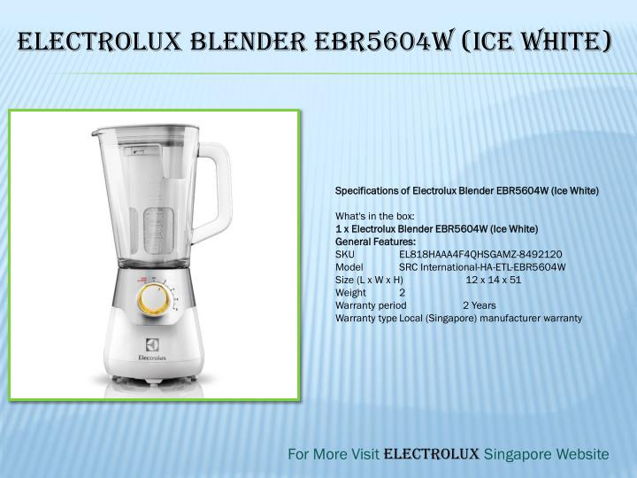 Electrolux Blender EBR5604W (Ice White)