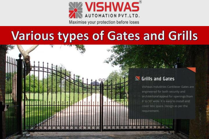 Various types of Gates and Grills