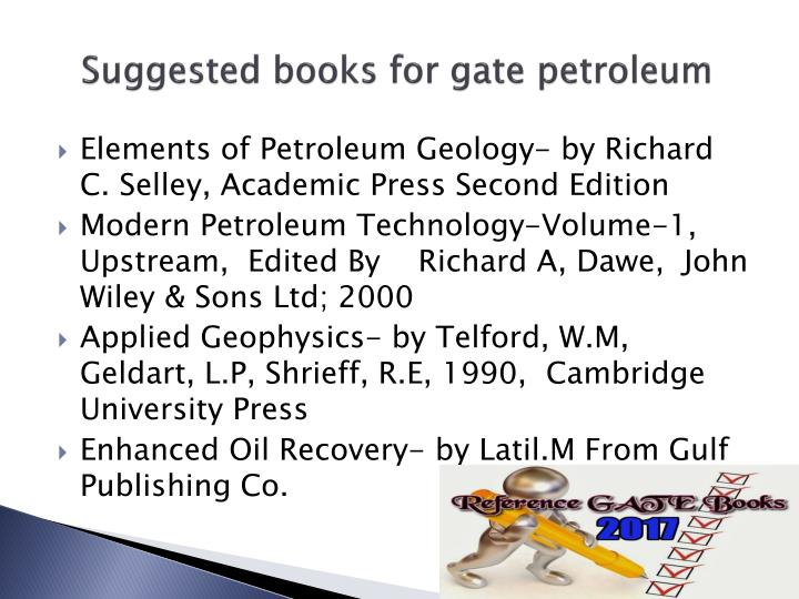 Suggested books for gate petroleum