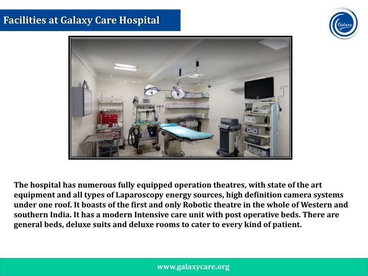 Facilities at Galaxy Care Hospital