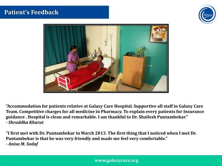 Patient's Feedback