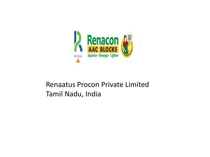 Renaatus Procon Private Limited